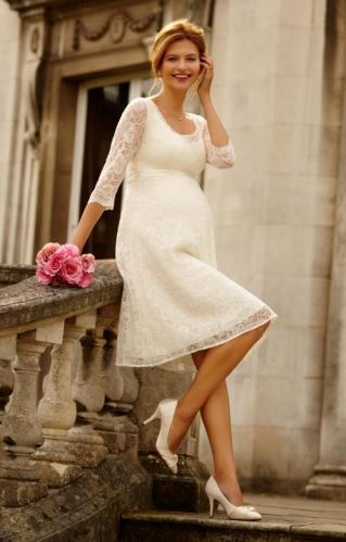 9d45b891c0ec Tiffany Rose Freya svadobné šaty pre tehotné krátke