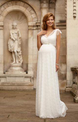 c892ed59f646 Tiffany Rose Kristin luxusné svadobné tehotenské šaty