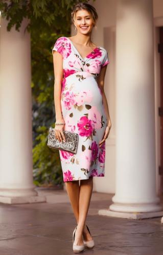 dcfd0f2980d8 Tiffany Rose Bardot dress tehotenské krátke šaty