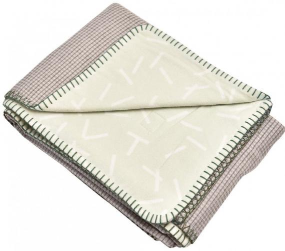 Lodger Deka Dreamer Flannel / Honeycomb, Leaf 75x100 cm