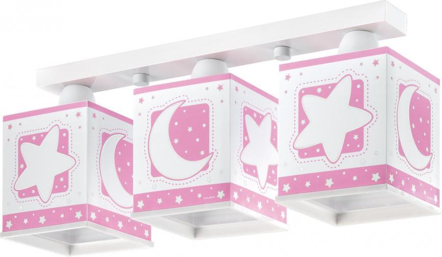Dalber Detské stropné svietidlo Moon Pink