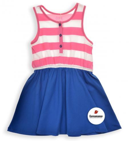 0fd3fb51e1be Garnamama Dievčenské šaty s prúžkami - farebné