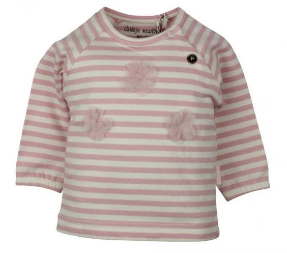 4dfb6af9aef7 Dirkje Dievčenské pruhované tričko - ružové