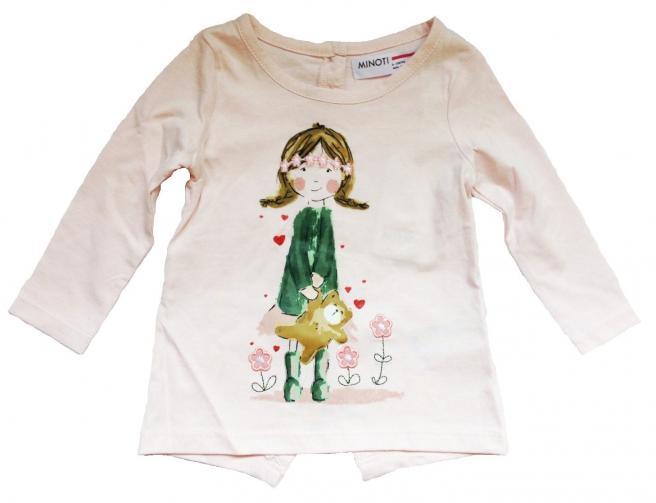 0f47e05b0400 Minoti Dievčenské tričko Pretty 1 s dievčatkom - svetlo ružové