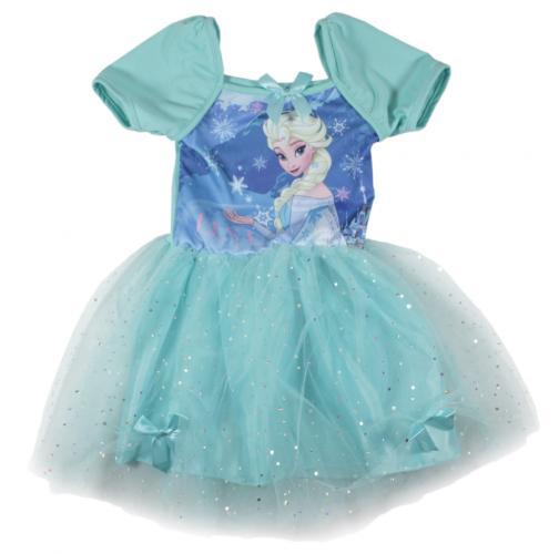 5312599ae918 E plus M Dievčenské šaty Frozen - tyrkysové