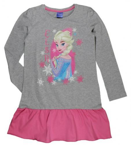 663e4b1a650c E plus M Dievčenské šaty Frozen - šedo-ružové