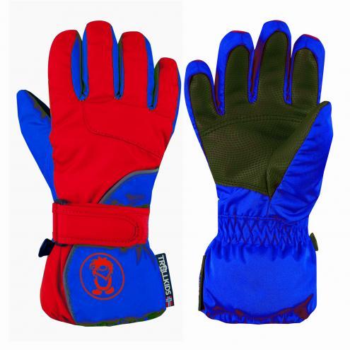 a2c5e1c7b Trollkids Chlapčenské lyžiarske rukavice Troll - červené
