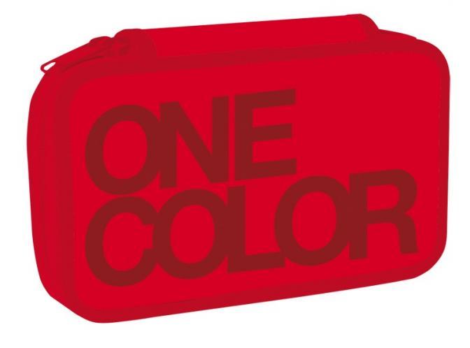 Stil Školský peračník dvojposchodový One Colour červený