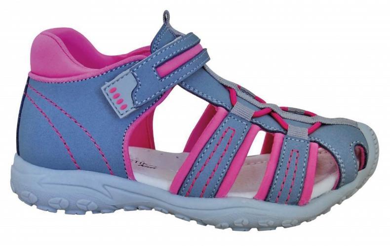 ecffdeb23da5 Protetika Dievčenské sandále Art - ružovo-šedé