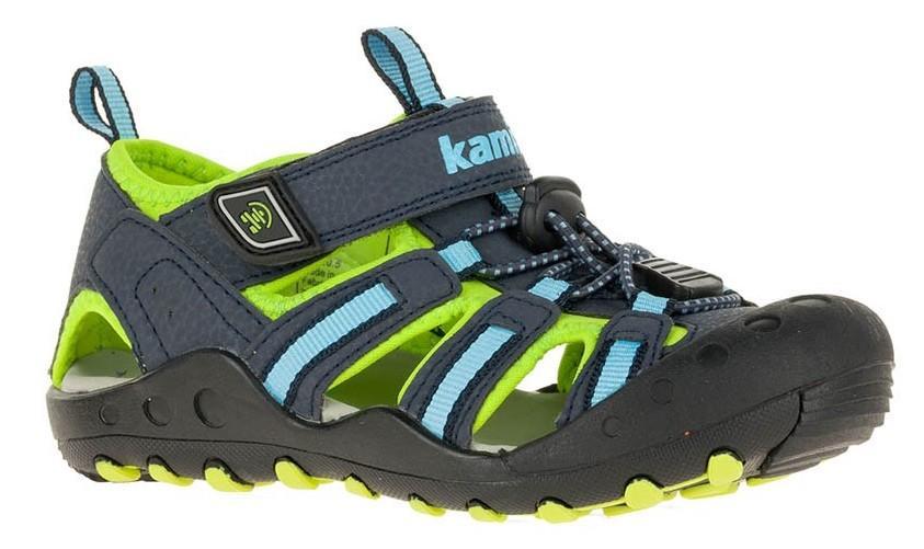 e13adad5838b Kamik Chlapčenské sandále CRAB - šedo-zelené