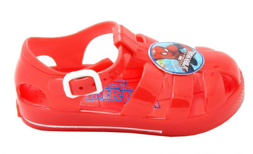 Disney by Arnetta Chlapčenské remienkové sandále Spiderman - červené