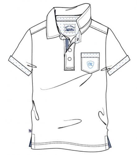 2c4e281330b02 Mix 'n Match Chlapčenské polo tričko - biele