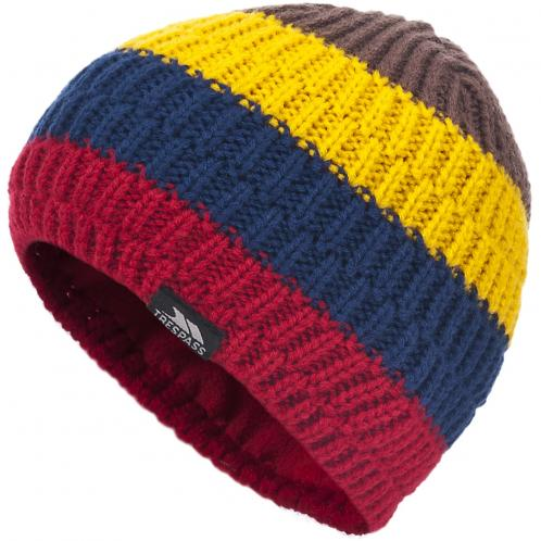 Trespass Chlapčenská pruhovaná čiapka Hendrix - farebná