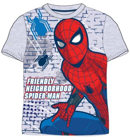 E plus M Chlapčenské tričko Spiderman - sivé