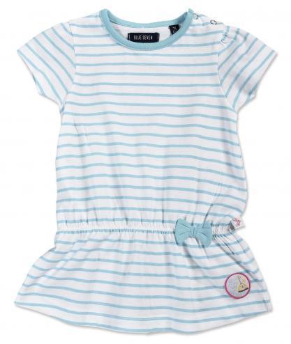 6203fd22017a Blue Seven Dievčenská prúžkovaná tunika - bielo-modrá