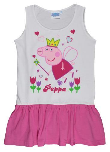 73615ea94278 E plus M Dievčenské šaty Peppa Pig - bielo-ružové