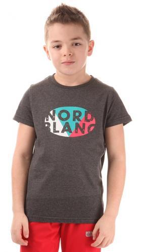 Nordblanc Chlapčenské tričko s potlačou - šedé