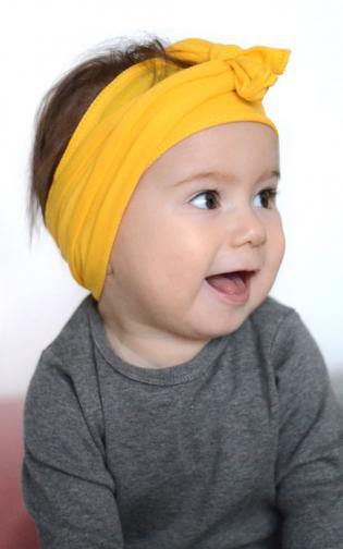 Lamama Dievčenské čelenka - žltá
