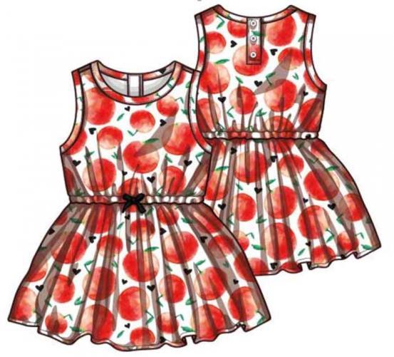 cd75ec658faa Primigi Dievčenské šaty s jabĺčkami - červeno-biele