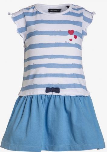 e4a8f2b13298 Blue Seven Dievčenské prúžkované šaty - modro-biele