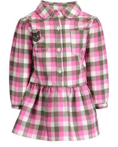 5f212d11a88b Blue Seven Dievčenské kockované šaty Meow - ružové