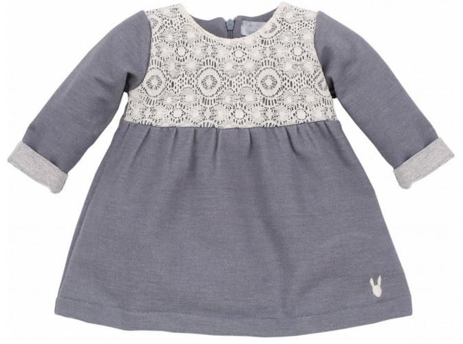 ab0af0f4853c Pinokio Dievčenské šaty Colette - šedé