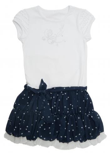 b2e9be2b1d6b Topo Dievčenské šaty - čierno-biele