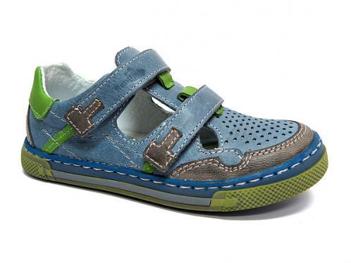 683bc5152a01 Ren But Chlapčenské kožené sandále - denim