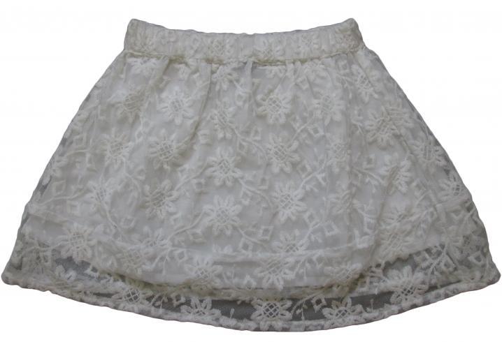 fc88ea92855a Carodel Dievčenské sukne s kvietkami - biela