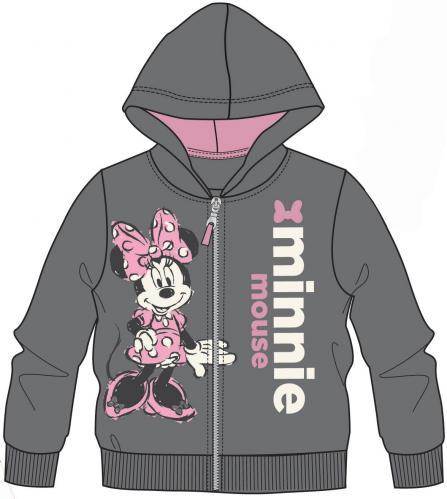 Disney by Arnetta Dievčenská mikina Minnie - šedá