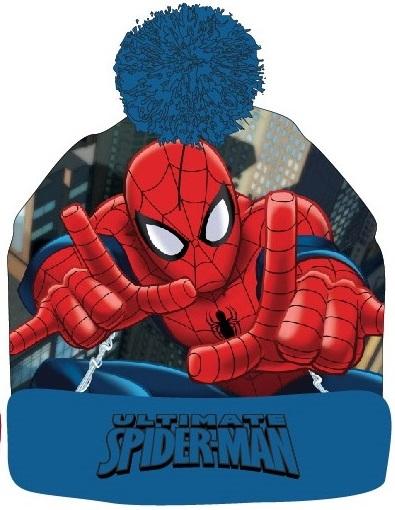 E plus M Chlapčenská čiapka Spiderman - modrá