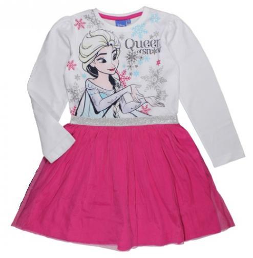 9e722b371fe1 E plus M Dievčenské šaty Frozen - bielo-ružové
