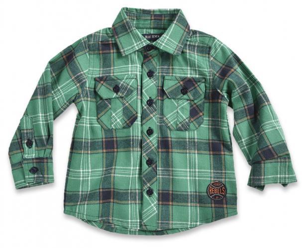 c120a995f7cd Blue Seven Chlapčenská kockovaná košeľa - zelená
