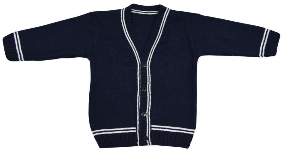EKO Chlapčenský sveter - tmavomodrý