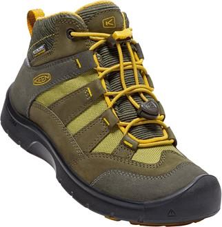 4c6f0e4d76f40 Keen Chlapčenské outdoorové topánky Hikesport Mid WP - hnedo-žlté