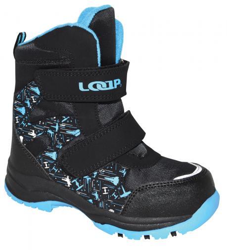8cfa4b884816c LOAP Chlapčenské zimné topánky Chosee - čierno-modré