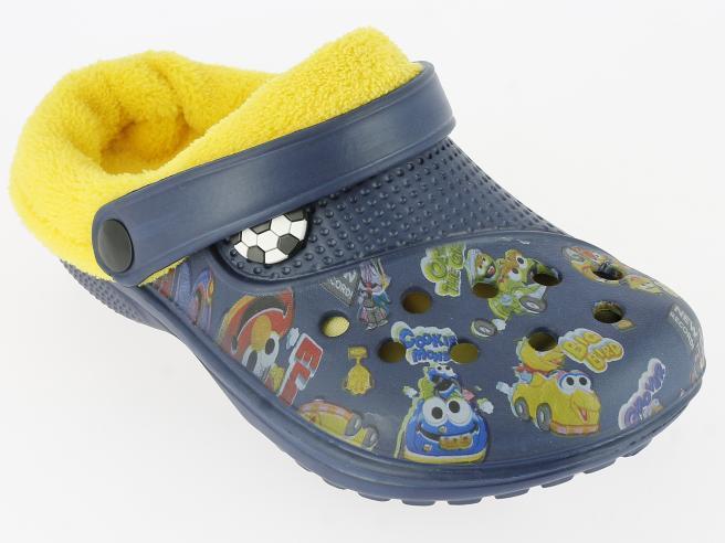 69c40adc81091 V+J Chlapčenské zateplené sandále - modré