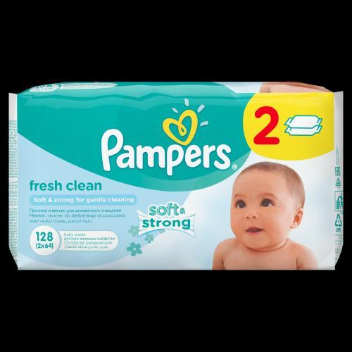 Pampers obrúsky Fresh Clean 2x64 ks