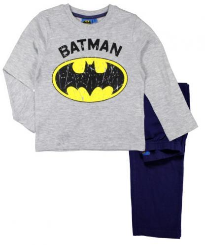 E plus M Chlapčenské pyžamo Batman - šedo-modré