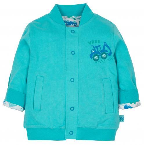 611def5039dd G-mini Chlapčenský obojstranný kabátik Bager - modrý
