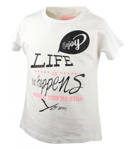 Dirkje Dievčenské tričko Enjoy - biele