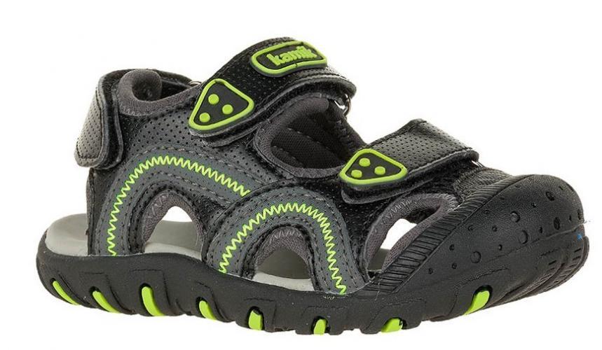 d5edf6a9d841 Kamik Chlapčenské sandále SEATURTLE - čierno-zelené
