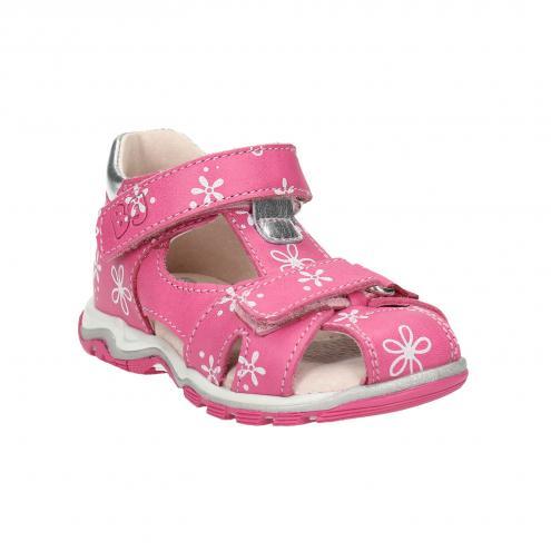 Dievčenské kožené sandále