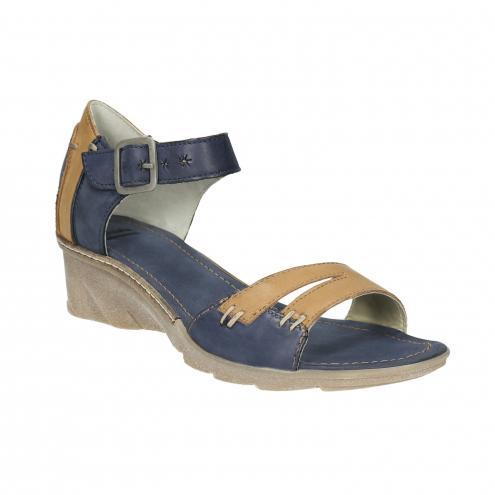 Kožené sandále na kline