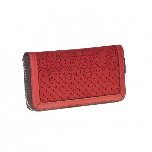 Červená dámska peňaženka 47812f96324