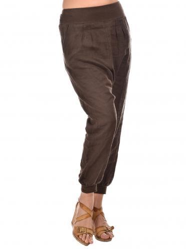 Lin pour l'autre Dámske nohavice pantalon Kylia-choco