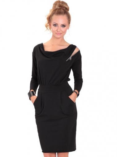 Eidos Dámske šaty ROBE 83 CLASSIC ZIPP BLACK