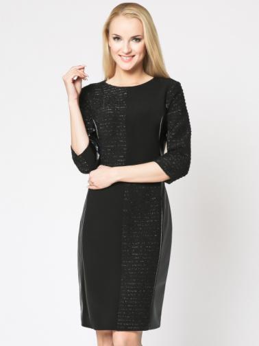 Margo Collecttion Dámske šaty DRESS 714 BLACK