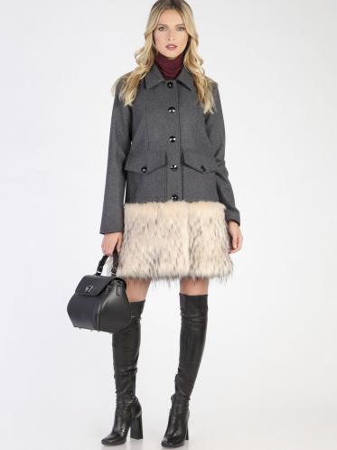 Carla by Rozarancio Dámsky kabát CR18F P3060 GREY a13f9d8fb79