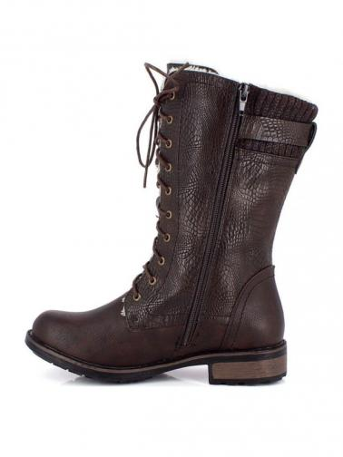 Kimberfeel Dámske členkové topánky DELPHIA_BROWN